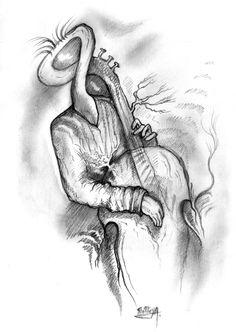 Violoncelliste sans visage