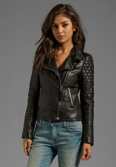 MACKAGE Jimmie Distressed Leather Jacket in Black - Leather
