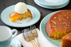 Kelly Neil, Halifax photographer - kellyneil.com - Lemon Polenta Cake with Lemon IceCream