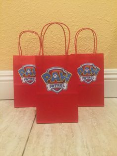 Paw Patrol Favor Bags-12 by FantastikCreations on Etsy