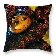 All Throw Pillows - Grapes 2 Throw Pillow by Lovina Wright