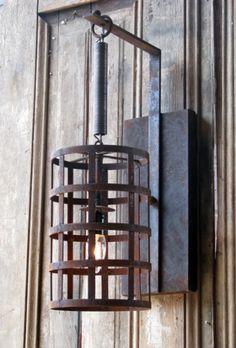 9025+3062 - Solaria - La Cage pendant w/ bracket- 22h x 7w - These will be in 1/2 bath