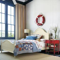 Stanley Furniture Coastal Living Bungalow Bedroom Set ( just colors ) Nautical Bedroom, Coastal Bedrooms, Coastal Living, Nautical Theme, Americana Bedroom, Nautical Interior, Cottage Bedrooms, Nautical Style, Cottage Living