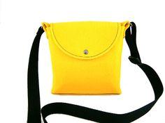 Handbag Felt purse Bag for women Messenger bag by Torebeczkowo