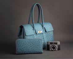 IkhayaElite Collection, Genuine Ostrich Handbag & Travel Wallet. #ostrichleather #genuineostrich