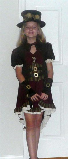 Steampunk Collectible Halloween Costume Little Girls  sz 7-9 and 3-5