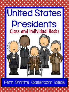 50% Off for the First Two Days United States Presidents Book Second and Third Grade Version Use for an Entire Class Book or Individual Books {Also makes terrific bulletin board displays} Forty-four Pages of Current Presidents, Blank Template for the 45th President, Blank Template with NO Numbers for Future Presidents or an Extended Writing Assignment #TPT $Paid