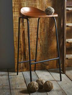 tabouret de bar en bois chaises hauts nature metal ancien