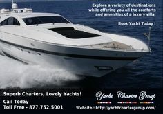 Website : http://yachtchartergroup.com/services/   Book Yacht For Special Events In Miami Yacht Charter Group has years of experience managing all types of birthday parties, anniversaries, corporate events on a broad range of yachts worldwide.We offer you quality boat rentals, boat rentals in Miami, Ft Lauderdale, Palm Beach and Boca Raton. We are one of the world's foremost yacht owners who, for over three decades.