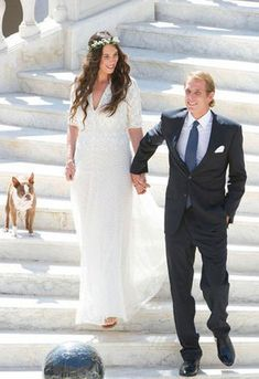 Le mariage discret d'Andrea Casiraghi et Tatiana Santo Domingo, à Monaco
