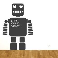 Check out Robot chalkboard wall sticker from Tesco direct