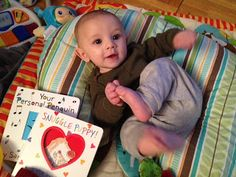 recently read, or more like sung to Phoenix the book Snuggle Puppy!: A Little Love Song by Sandra Boynton, it's a cute song to read and sing about loving your little one for what they are and what they do. It's really fun, silly and cute (you will gush, awww) when you're husband sings this to your baby too. I got this as a sweet read during Valentine's Day season but it's a book I'll read year round.