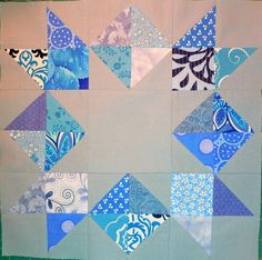 Cute block from Sew and be Happy Quilting bee