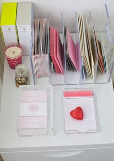 Vertical organization in the office. This would be so helpful for organizing correspondence and seeing what stationery is on hand.