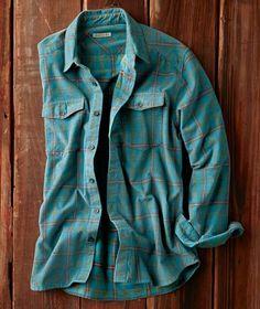 Effortlessly Cool Men's Shirts - Cielo Cord Shirt - Carbon2Cobalt
