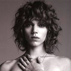 freja beha's awesome curly bob