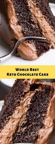 Worlds Best Keto Brownie, Best Dessert - Keto Snacks Ideas Desserts Keto, Keto Friendly Desserts, Paleo Dessert, Keto Snacks, Dessert Recipes, Breakfast Recipes, Breakfast Hash, Breakfast Options, Keto Chocolate Cake
