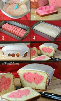 hearts inside cake-- how to