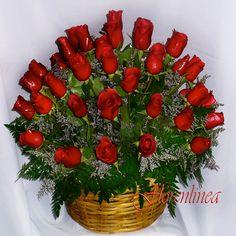 Canastas hermosas de rosas en hd - Buscar con Google By Maria Elena Lopez