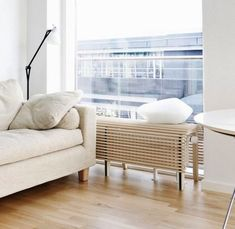 Do you hate having your home radiators exposed and ruin your home decor? We give you easy 16 Radiator Shelf Hacks to Improve your Décor that you can apply. Decor, Furniture, Bed Table, Home, Home Radiators, Apartment Inspiration, Bench, Interior Design, Stool Design
