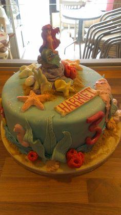 Ariel ocean themed cake
