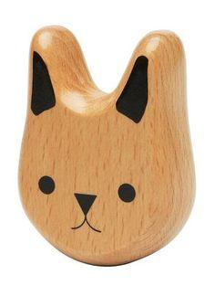 Bunny Wood Rattle