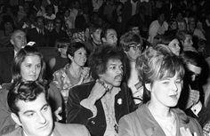 #Sixties | Jimi Hendrix watching Dr. Martin Luther King Jr.