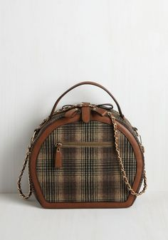 Travel Back in Timely Bag - Multi, Plaid, Casual, Vintage Inspired, Travel, Better, Gifts2015, Gals