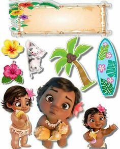 Moana Birthday Party Theme, Moana Themed Party, Moana Party, Luau Birthday, Baby Moana, Festa Moana Baby, Birthday Centerpieces, Kids Party Themes, Topper