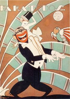 Art Deco...it's the '20s, blackface was everywhere then. No, it wouldn't fly today.