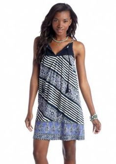 Lucky Brand  Crochet Stripe Dress
