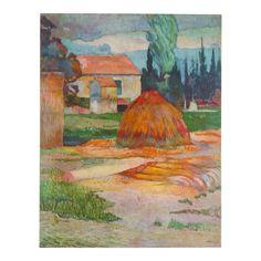 """Paul Gauguin Vintage 1972 Authentic Post Impressionist Lithograph Print """"Landscape Near Arles"""" 1888 Victorian Picture Frames, Victorian Pictures, Primitive Pictures, Picture Frame Art, Artist Materials, Litho Print, Artist Branding, Artwork Images, Paul Cezanne"""