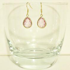 Light Magenta Glass Framed Earrings by aureatelyaqua on Etsy for $14.00 Magenta, Gems, Pendants, Drop Earrings, Trending Outfits, Unique Jewelry, Handmade Gifts, Frame, Vintage