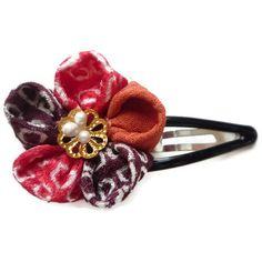 Japanese Kimono Kanzashi Style  Vintage Silk  Hair by tomoandedie, $10.00