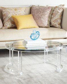 H8C3J INTERLUDE Shonda Acrylic Coffee Table
