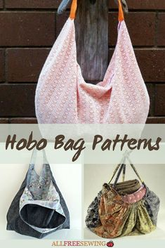 Find at least one free easy hobo bag sewing pattern here. Hobo bags are soft, slouchy, and stylish. These free patterns hit the mark for anyone interested in sewing one. Hobo Purses, Hobo Bags, Purses And Bags, Diy Messenger Bag, Hobo Bag Patterns, Bag Pattern Free, Hippie Bags, Diy Purse, Big Bags