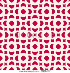 Vector seamless pattern in oriental style. Red and beige geometric ornament, abstract background texture with floral shapes, circles, squares. Winter festive design for prints, textile, decoration