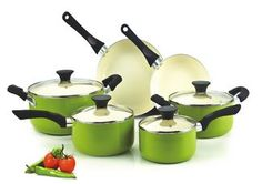 Buy this Cook N Home NC-00358 Nonstick Ceramic Coating 10-Piece Cookware Set with deep discounted price online today.