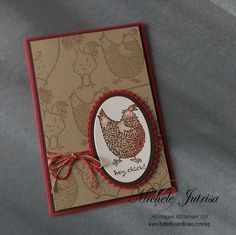 I couldn't resist it! I really enjoyed working this this weeks Global Design Project Colour Challenge #065, so much I had to do another card. This time using Stampin' Up! Sale-A-Bration stamp set Hey, Chick