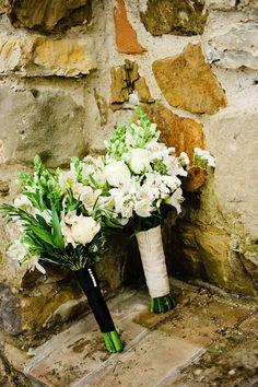 Bouquets for Italian villa wedding in Tuscany   photo by Rochelle Cheever via junebugweddings.com