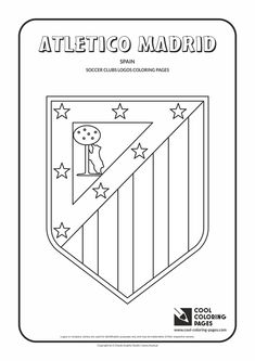 Atletico Madrid logo coloring / Coloring page with Atletico Madrid logo…
