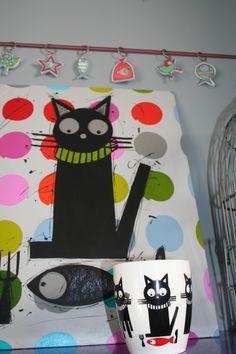 black le chat de marine-b décoration la muse de marine-b