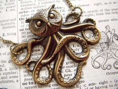 Owl Octopus Necklace