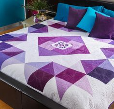 Orchid Mega Quilt Kit - Quilting Kit Includes Fabric & Pattern