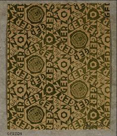 Design for the Gerzon store in Amsterdam - M.C. Escher, 1933