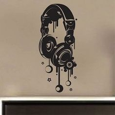 Headphones Wall Decal - For all my beloved DJ's