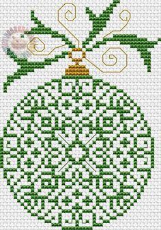 Christmas ornament cross stitch.