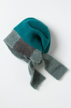 Colorblock Boiled Wool Beanie