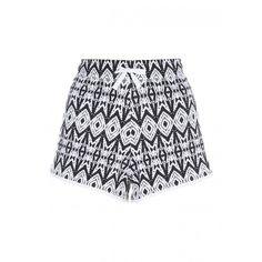 Womens Black Aztec Printed Shorts ($9.10) ❤ liked on Polyvore featuring shorts, aztec print shorts and aztec shorts