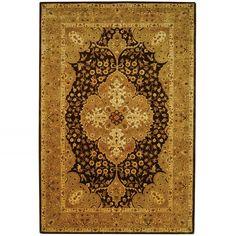 Persian Legend Dark Brown / Gold Indoor Rug.